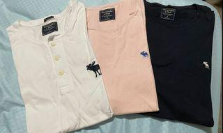 authentic abercrombie & fitch a&f t-shirts