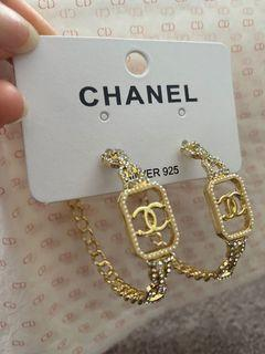 CHANEL cc hoops diamonds gold silver