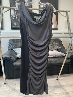Charcoal & black dress