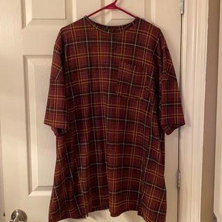 Checkered Tshirt Dress