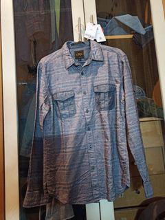 EIGER striped shirt dark gray (Size M) SlimFit