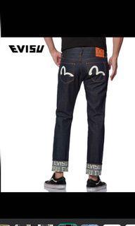 Evisu 男裝深藍牛仔褲 33腰 同新一樣 原價$1700