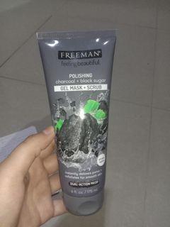 FREEEMAN charcoal + black sugar gel mask