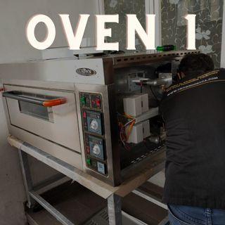 Full complete set untuk usaha roti oven + mixer
