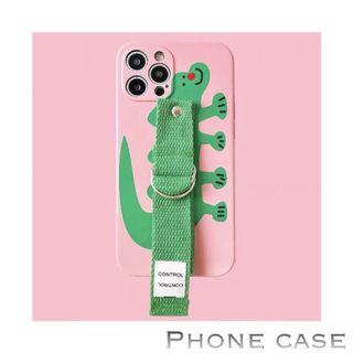 🎉🎉iphone Cass ~ Crocodile 🐊 with safety hand string