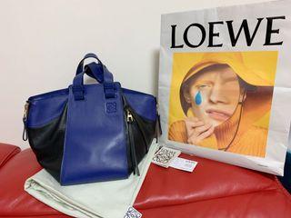 Loewe small hammock electric blue puzzle gate bag