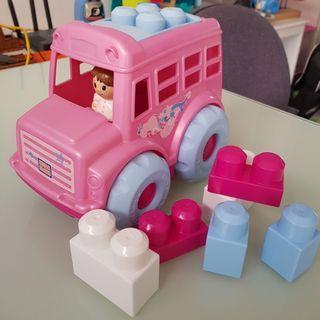 Mega Bloks Lil Pink Bus