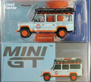 Mini GT #156 Land Rover Defender 110 GULF (USA Exclusive)