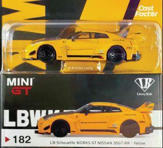 Mini GT #182 LB-Silhouette Works GT Nissan 35GT-RR Yellow (USA Exclusive)