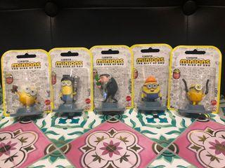 Minions The Rise of Gru Micro Collection by Mattel (Set of 5)