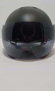 New Black Helmet with Visor- Bike, Scooter - Adjustable Size