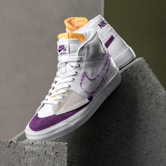 Nike SB Blazer Mid Edge Lakers, Men's Fashion, Footwear, Sneakers ...