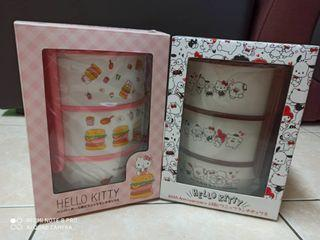 🎀Ori Sanrio Japan🎀 🇯🇵 Hello Kitty 3 layer lunch Box