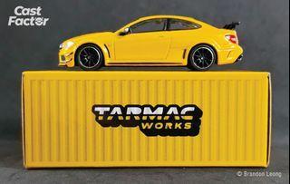 Tarmac Works Global64 - 1:64 Mercedes-Benz C63 AMG Coupé Black Series Yellow Metallic