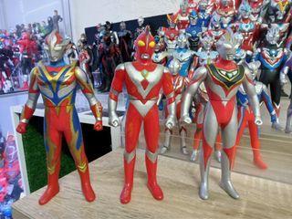 Ultraman Mebius Pheonix Brave , Ultraman Zearth , Ultraman Gaia V2 6.5 inch Sofubi.