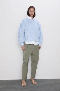 Zara green cargo style with pockets pants
