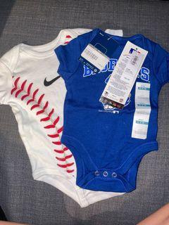 0-3 M baseball onesies