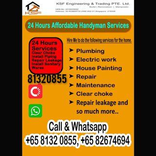 We are offer round the clock 24 hours professional Handeman service at reasonable rates call whatsapp https://wa.me/6582674694