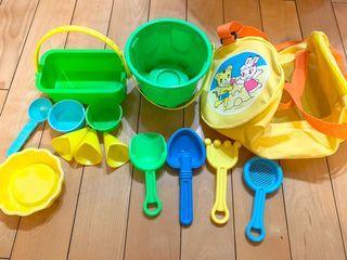 挖沙玩具+巧虎玩沙收納袋