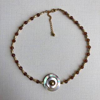 天然厚切貝殼項鍊