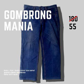 🇯🇵 GOMBRONG MANIA/  Celana Denim EMBA size 34 (Jeans/ Loose/ Besar/ Bigsize)
