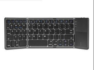 千業 QIANYE 藍牙摺疊觸控鍵盤(太空灰)