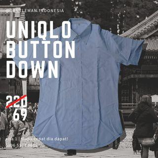 🇯🇵 (SISA SATU) Kemeja Uniqlo Buttondown (Size M/ Shirt/ Pendek)