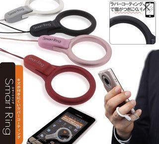 日本 SmartRing 防摔指環設計 手機吊飾 紅色