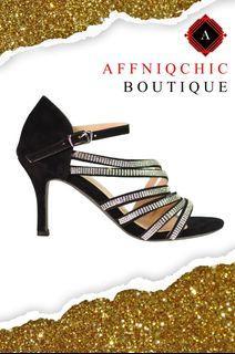 AFFIQCHIC Mara Shine / Ankle Strap Heels Women Sandals Summer Shoes Women Open Toe  High Heels Party Dress Sandal