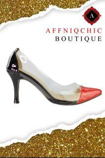 AFFNIQCHIC Lana Combi/Classic Glossy Close leather office  heels Shoes