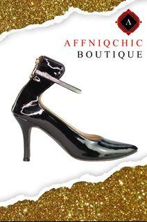 AFFNIQCHIC Lima Stone / Pointed Shoes   Belted Closed-toe Sandals Sexy Thin Heeled High Heel Shoes