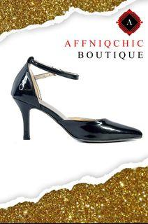 AFFNIQCHIC Lucy/Classic Glossy Close leather office  heels Shoes