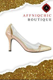 AFFNIQCHIC Lush Glitter/Classic Glossy Close leather office  heels Shoes