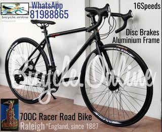 Aluminum 700C Racer Road Bike ✩ Offer unit: 16Speeds ✩ Brand New RALEIGH Bicycle