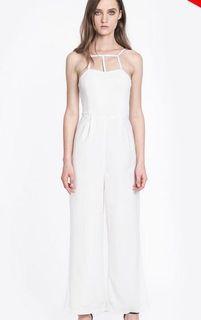 Amber Avenue White Jumpsuit