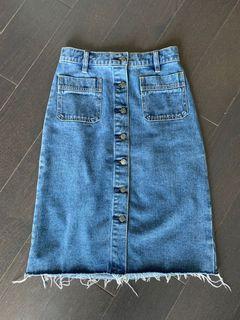 BDG Urban Outfitters High Waist Jean Skirt - Size 0