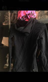 BENCH Double Hoodie zipup pink & Black XS