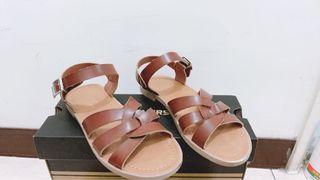D+af復古編織涼鞋 #22.5公分