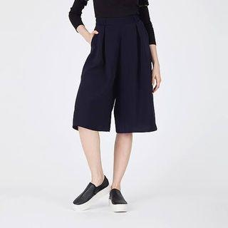 GU By Uniqlo Gaucho Wide Pants | Cullote pants in Navy |