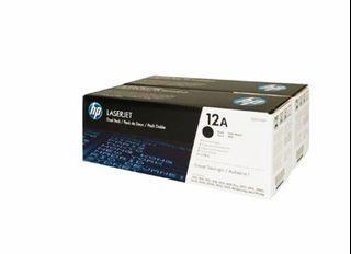 🔥(Arrived 978pcs. Like)HP Q2612AD Dual Pack-12AD Toner-HP 12A-惠普碳粉