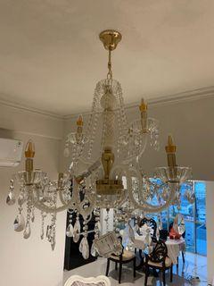 Jual lampu kristal mewah classic crystal lamp dekorasi