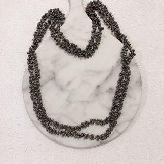 Kalung mote rantai abu necklace