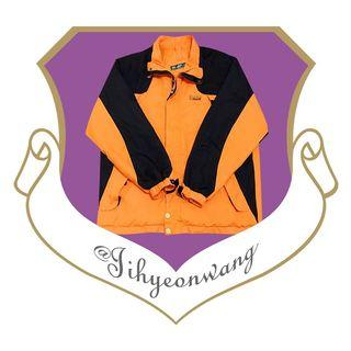 Londa Polo 陷阱橘 運動外套 風衣 古著外套 大拼色 長袖 上衣 拼色 撞色 素面 素色 網眼布 @下課來玩吧