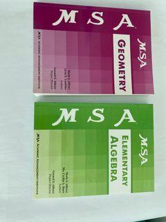 MSA books