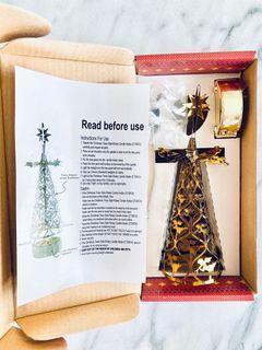 NEW Christmas tree candle holder Xmas deco light tealight