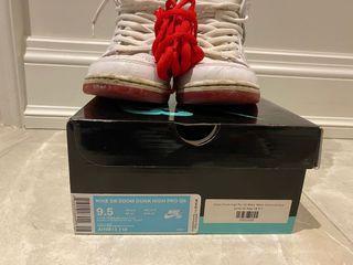 Nike SB Zoom Dunk High Pro Qs Sz 9.5