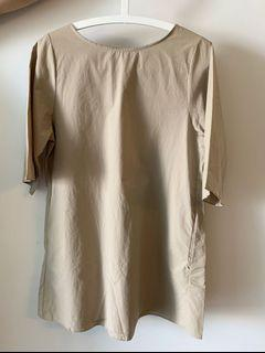 Oak and Fort Beige Dress - One Size