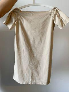 Oak and Fort Off Shoulder Dress - Small