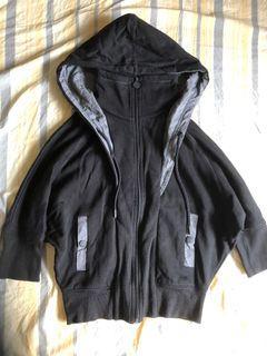 PUMA 七分袖 飛鼠袖 鋪毛連帽運動外套