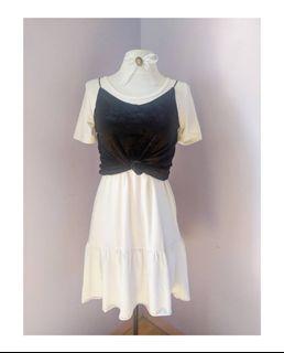 Set Dress+ Velvet Top